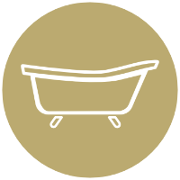 Icon of a bath tub
