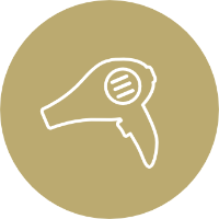 Icon of a hairdryer