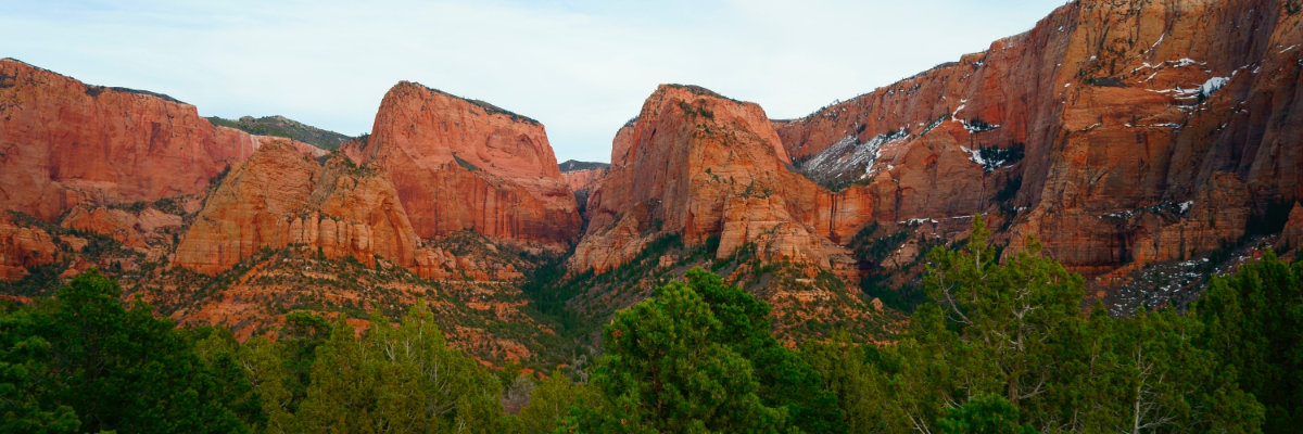 Kolob Canyon panorama
