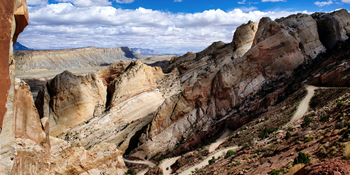 The Burr Trail switchbacks