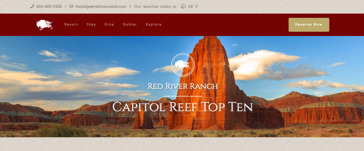 Our new Captiol Reef Top Ten portion of the site