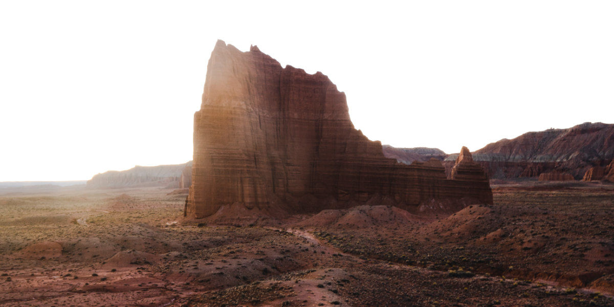 A monolithic sandstone formation