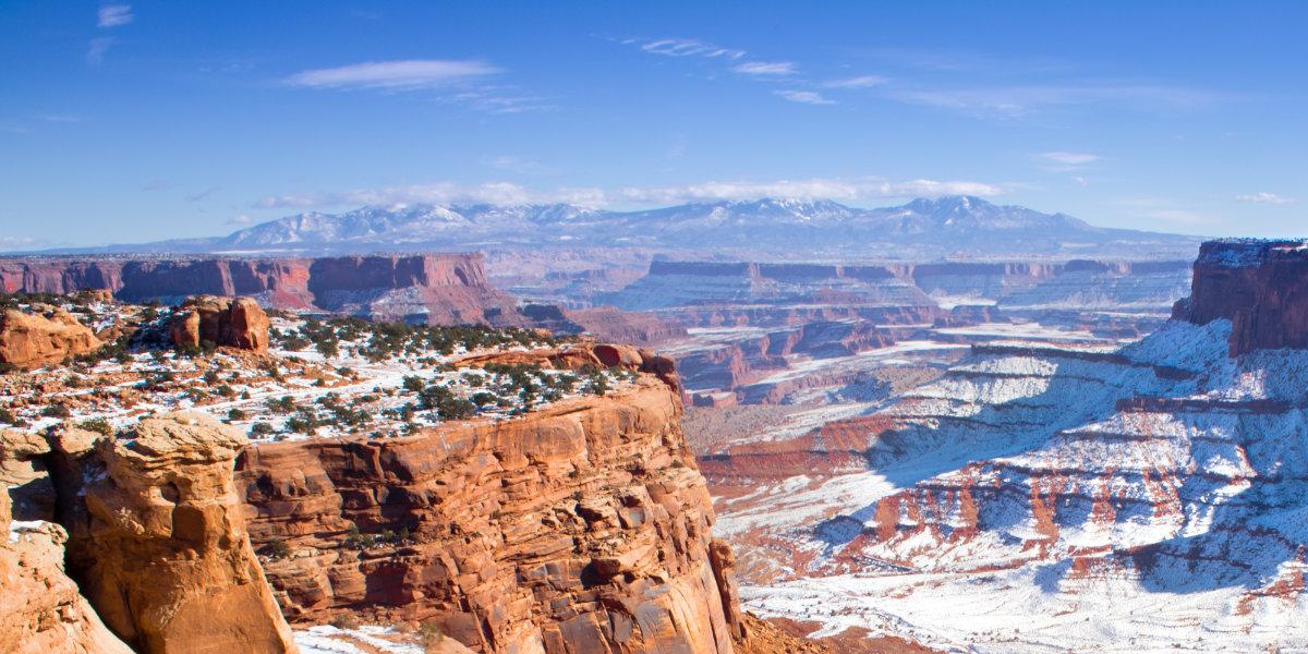 A snowy desert in Southern Utah