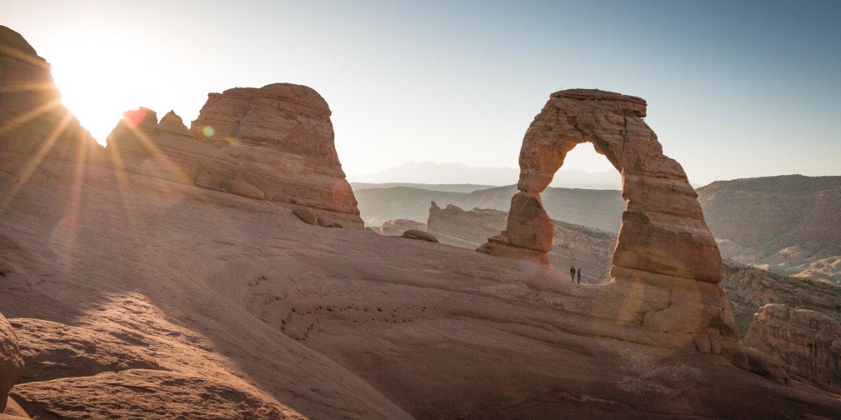 An arch in the dusky twilight