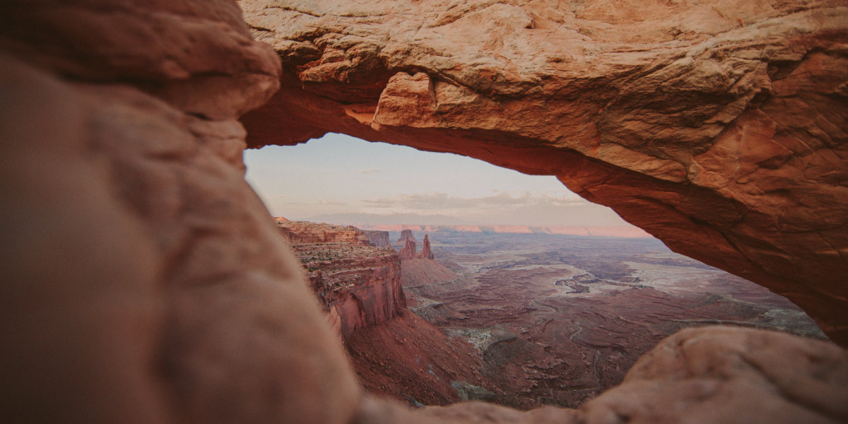 A cliff view of Canyonlands National Park