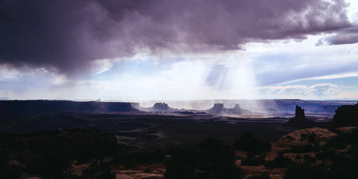 Rain storm on the desert of Southern Utah