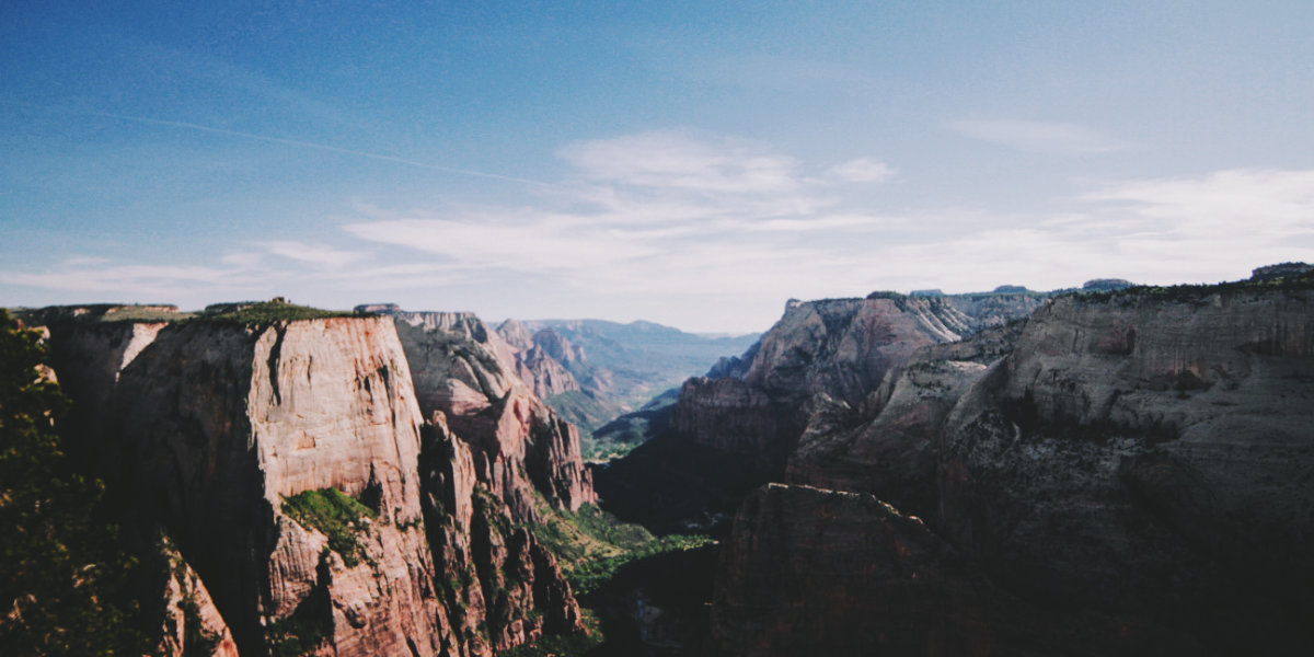 A view of Zion Canyon