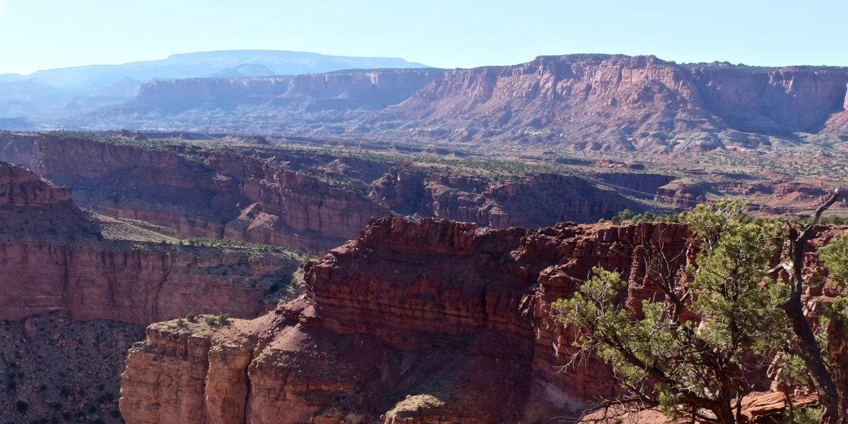 A twisting canyon Panorama